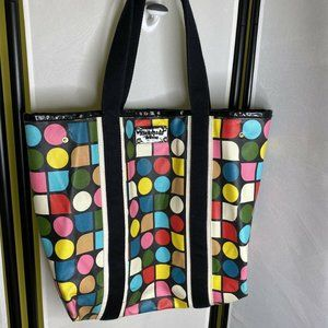 Kate Spade Multicolor Spotted Canvas Tote Bag